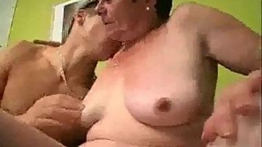 Granny Gets Horny And Starts Sucking Cock