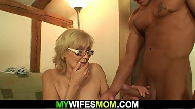 Fucking old girlfriend's mother from behind