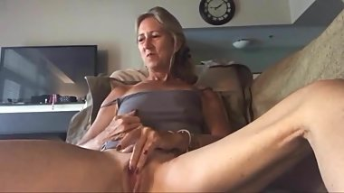 Cute granny small tits masturbation webcam
