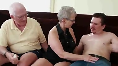Mature 75Yo couple invited their 18yo neighbor to drink some tea