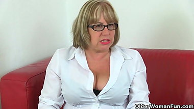 British granny Trisha can't control her sexual desire