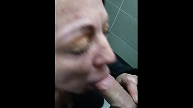 Granny sucks dick real good swallows my cum