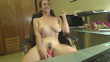 hot granny with big tits on webcam