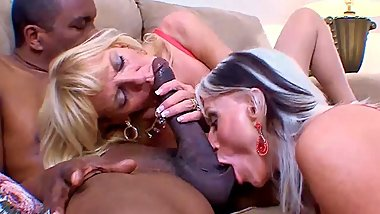 Mature thin blondes enjoy big black cocks