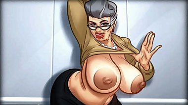 Sweet old horny Granny gone Kinky on Elevator!!