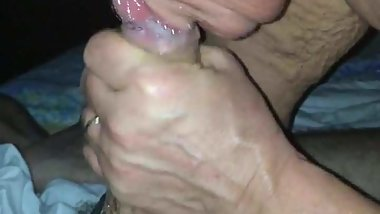 L'amato blowjob con fisting finale