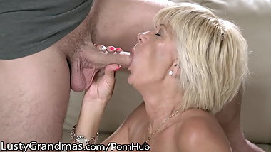 Grandma Fit Granny Dicked in Shaved Box