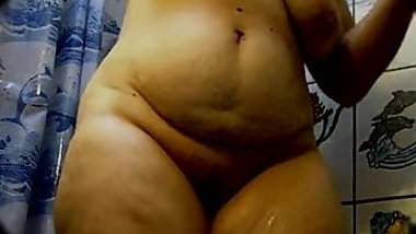 Big Ass Chubby Grandma in the shower - 14
